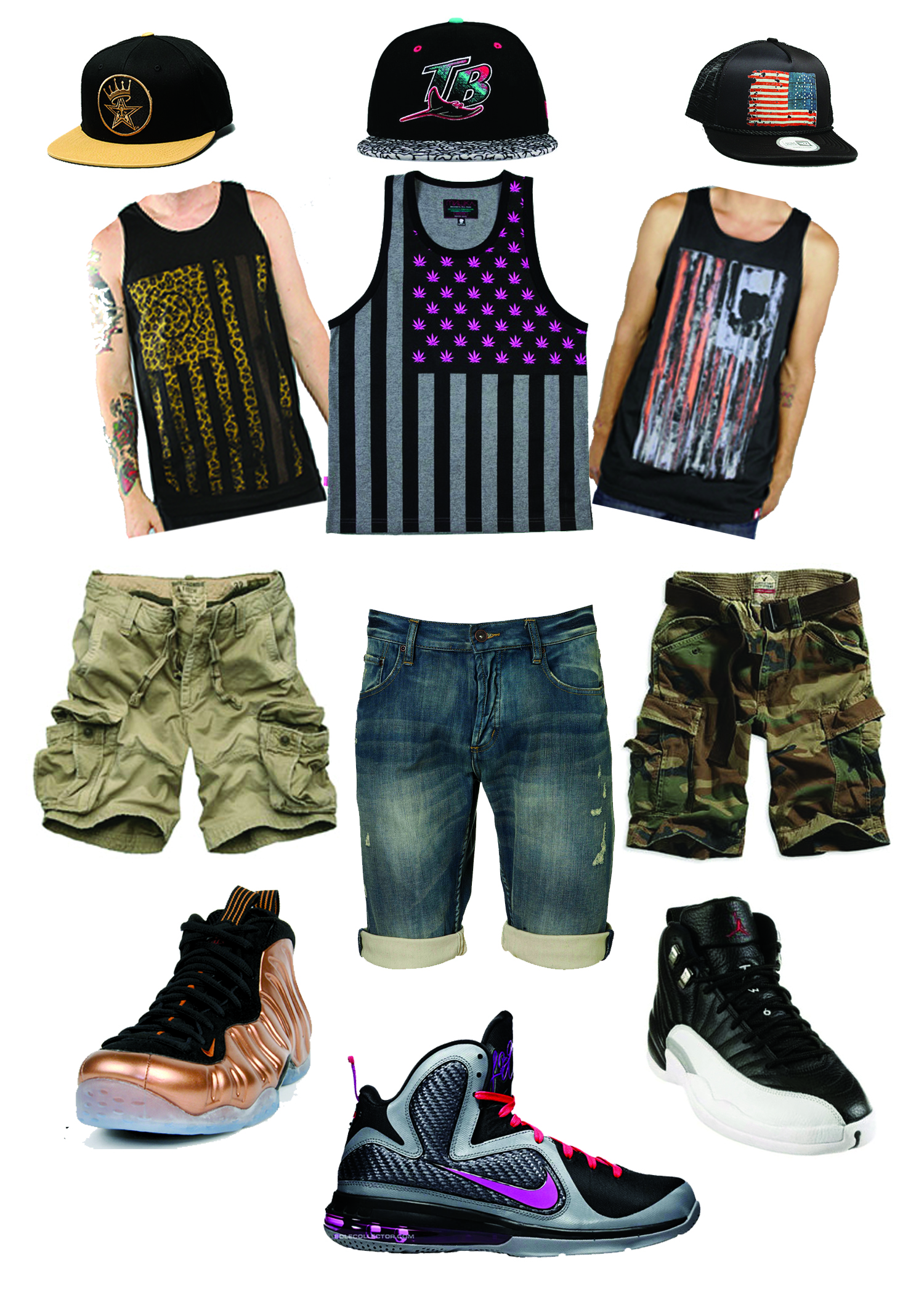 SnapBacks  FlagTanks and Dope Kicks copyDope Outfits For Boys